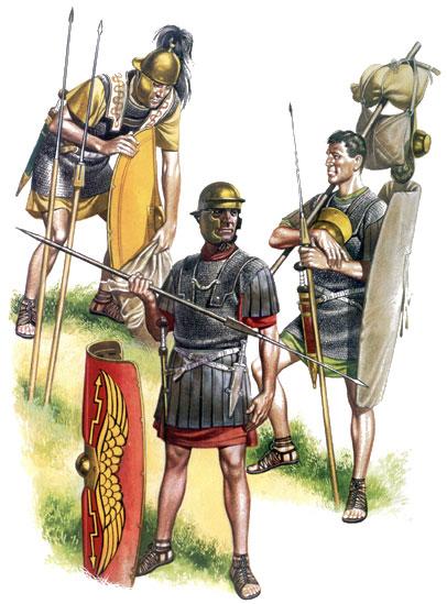 """Армия, которая существовавала во время правления Августа, часто называется -  """"классическим """" легионом Это то..."""